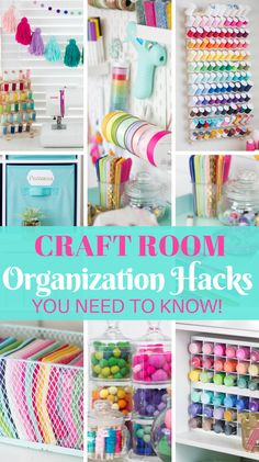 Organize your craft and sewing space with these easy tips and tricks!