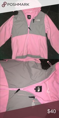 Don't wear! Only worn one time Pink hooded north face. Like new!! North Face Jackets & Coats Utility Jackets