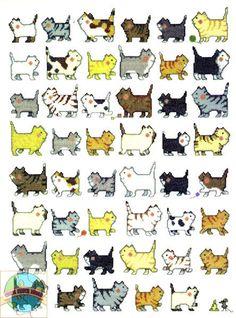 Кот маленькая вышивка