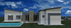 4 Bedroom House Plan - My Building Plans South Africa My Building, Building Plans, One Storey House, 4 Bedroom House Plans, Double Garage, Modern House Design, Planer, Mj, South Africa