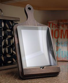 Cutting Board Ipad Stand, Wooden Ipad Stand, Tablet Stand, Wooden Tablet Holder…