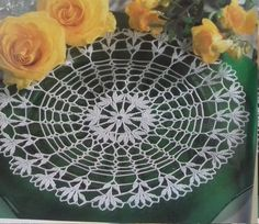 Hand crochet doily cotton lace home décor vintage crochet pattern 11 inch cozy house antique style by Czechhandmade on Etsy