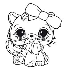 Littlest Pet Shop Dog Coloring Pages Cute Lps Dog
