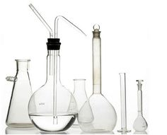 flasks and pipettes and ...lab glass