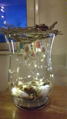Paasdecoratie vaas Christmas Mantels, Glass Vase, Bunny, Easter, Spring, Floral, Handmade, Interior Decorating, Centerpieces