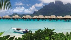 The Four Seasons in Bora Bora has cottages on the water, so you can drift to sleep to the sound of gentle waves lapping.