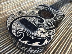 Items similar to Personalized Ukulele (Hand carved customised Uke / Tribal / Polynesian Carvings) on Etsy Acoustic Guitar Art, Ukulele Art, Guitar Tattoo Design, Ukulele Design, Polynesian Art, Polynesian Designs, Mahalo Ukulele, Taylor Guitars, Guitar Painting