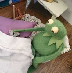 Kermit tucking in his baby
