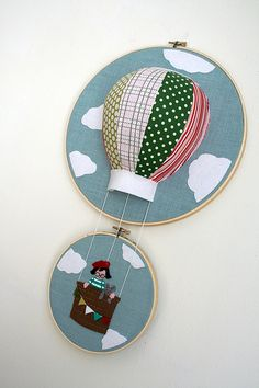 hot air balloon embroidery
