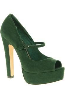 Asos Asos Pepper Mary Jane Platform Court Shoe with Peep Toe - Lyst