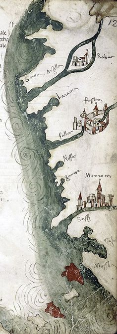 Coastline Map--looks like the map you'd find in a fantasy novel