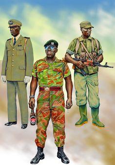 Zimbabwean and Ugandan troops of the Great African War