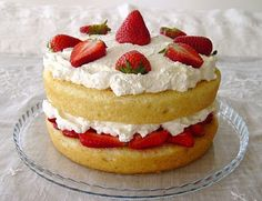 strawberry layer cake - fresh berries and real whipped cream with a 'from scratch' cake. Worth making for a special family gathering