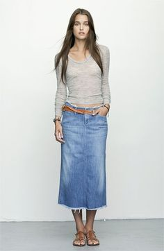 I love jeans so why not a jean skirt.
