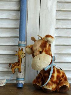 Χειροποίητη λαμπάδα πασχαλινή καμηλοπάρδαλη για αγόρια, annassecret Gingerbread Cookies, Teddy Bear, Toys, Animals, Gingerbread Cupcakes, Activity Toys, Animales, Animaux, Toy