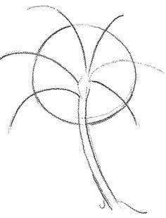 Palme zeichnen lernen Bäume zeichnen lernen. Zeichnen