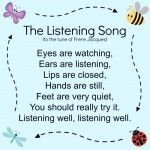 Discovering helpful music for kids The Listening Song: Learning The Listening Song for children. Discovering helpful music for kids The Listening Song: Learning The Listening Song for children. Kindergarten Songs, Preschool Music, Preschool Classroom, Preschool Learning, Preschool Good Morning Songs, Classroom Chants, Transition Songs For Preschool, Preschool Transitions, Montessori Elementary