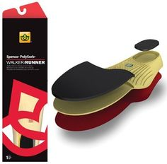 Spenco PolySorb Walker/Runner Insoles - Size 1 Red, Women's 5-6 by Rolyn Prest. $20.50. (SEE AVAILABILITY ABOVE FOR ESTIMATED DELIVERY) - Spenco PolySorb Walker/Runner Insoles - Size 1 Red, Women's 5 - 6 - Spenco PolySorb Walker/Runner Insoles - Walkers, runners & joggers seeking additional comfort & cushioning. Increased shock absorption & heel strike protection. Reduced friction to help prevent blisters. Increased energy return for improved athletic performance. Sold in p...