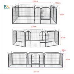 Tato skládací ohrada ABWI-5209 je výborným řešením pro výběh menších domácích zvířat, např. štěňátek, králíků, hlodavců apod. Skládací ohrada má široké možnosti použití také jako oddělovací stěna, ochranná mříž ... Snadno a rychle se dá složit a rozložit, snadno se přenáší a vyvýšené dvířka zabrání zvířatům snadno uprchnout. Shopping