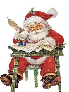 Santa Writing A Letter