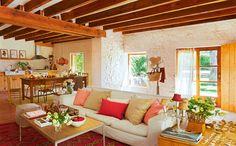 Decoração de: Sala de estar - sofá branco; Casa de Valentina