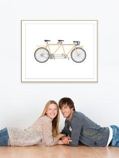 Beige Room, Beige Wall Decor, Beige Room. Love Tandem Bike Art, Tandem Bicycle Art, Tandem Art Print, Couple's Tandem Bicycle Printable Art.