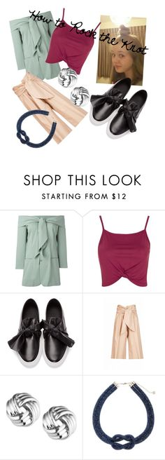 """""""How to Rock the Knot"""" by xravenclaw-princessx ❤ liked on Polyvore featuring Jean-Paul Gaultier, Topshop, Cédric Charlier, MSGM and Anne Klein"""