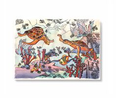 Tinhabitants Of The Sea Pattern With Turtles By StudioFantasies 2900