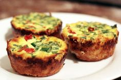 Bacon and Spinach mini quiches - Extra Easy - Slinky Slimmers - Slimming World Recipes