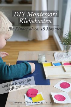 Mit einem super simplen, ungiftigen Leimrezept für Kleinkinder You are in the right place about Glue packaging Here we offer you the most beautiful pictures about the Glue painting you are looking for Diy Montessori, Montessori Activities, Infant Activities, Family Activities, Dinosaur Activities, Summer Activities, Diy For Kids, Crafts For Kids, Toddler Meals