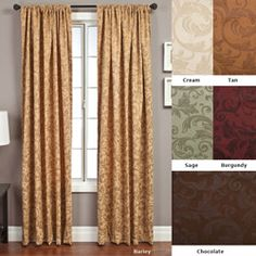 @Overstock.com - Livingston Rod Pocket 96-inch Curtain Panel - Update your home decor with a luxurious window panelWindow treatment designed with embossed suede fabricCurtain features a pocket for easy hanging from a decorative rod  http://www.overstock.com/Home-Garden/Livingston-Rod-Pocket-96-inch-Curtain-Panel/3319976/product.html?CID=214117 $45.99