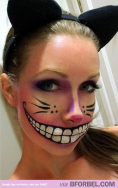 Cheshire Cat Halloween make up! Amazing. http://www.mkspecials.com/  http://www.kickscenter.com