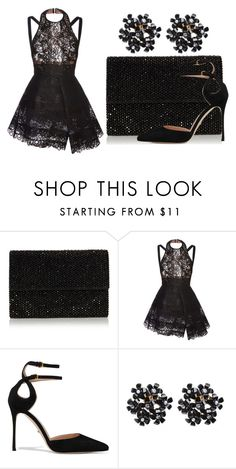 """""""Black Diamonds"""" by stencie on Polyvore featuring Elie Saab and Sergio Rossi"""