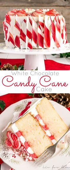This White Chocolate Candy Cane Cake is the perfect addition to your holiday celebrations! The delicious combination of white chocolate and peppermint. Chocolate Peppermint Cake, White Chocolate Candy, Chocolate Cupcakes, Chocolate Chocolate, Peppermint Candy, Christmas Sweets, Christmas Cooking, Christmas Cakes, Christmas Goodies