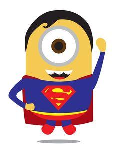 Minions super heros superman Les Minions en super héros