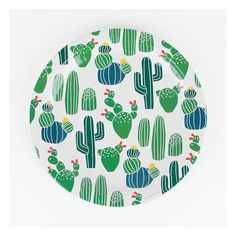 OH-EM-GEE We love these cactus plates and the other items in our cactus collection! They're perfect for that summer fiesta or birthday party! 9 IN Diameter, 8 Plates