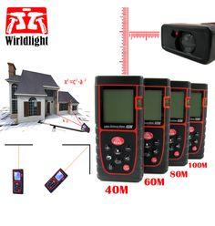 Laser afstandsmeter afstandsmeter digitale laser afstandsmeter 18M40M60M80M100M trena meetlint heerser Hoek volume tester gereedschap