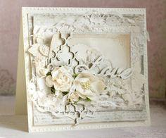 Бумага-Марака: 50 оттенков белого. Открытка  / Wedding card