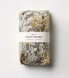 Packaging on this soap collection is so beautiful. Gold foiling, lace and soft floral graphics