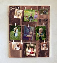 Grindstone Design's clothespin picture frame is a classic piece of home décor, and an easy way for mom to organize (and showcase) her favorite photos. http://amzn.to/1S7OnF5