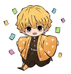 Anime Chibi, Kawaii Chibi, Cute Chibi, Anime Manga, Anime Art, Bff Drawings, Easy Drawings, Demon Slayer, Slayer Anime
