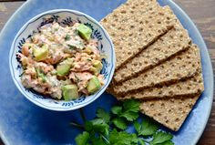 This salmon salad would easily work for tuna or crab salad as well.