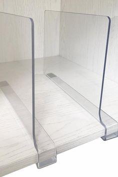 Acrylic Shelf Dividers