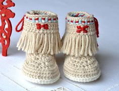 Moccasin Fringe Booties pattern