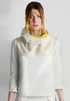 Hooded sweatshirt - White/Yellow BUY IT NOW ON www.dezzy.it!