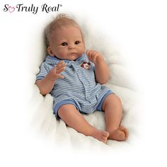 Shop great selection of so truly real baby dolls at Ashton-Drake. Our realistic So Truly Real® dolls are expertly handcrafted to recreate the tiniest details with features similar to reborn babies. Reborn Baby Girl, Reborn Babypuppen, Boy Baby Doll, Newborn Baby Dolls, Reborn Babies, Baby Boy, Reborn Dolls, Ashton Drake, Marie Osmond