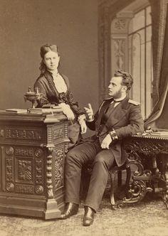 L'ancienne cour - 1870's Grand Duchess Maria Aleandrovna and brother Grand Duke Alexei