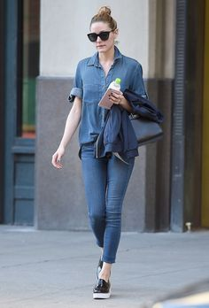 this is how you wear denim on denim via The Olivia Palermo Lookbook