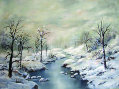 Winter Landscape Oil painting, consignment, SOLD