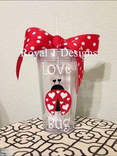 Love Bug Valentine Tumbler. $14.00, via Etsy.